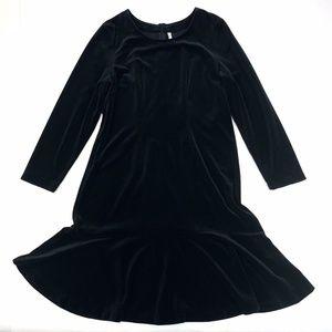 Hanna Andersson Velvet Knee Length Dress L